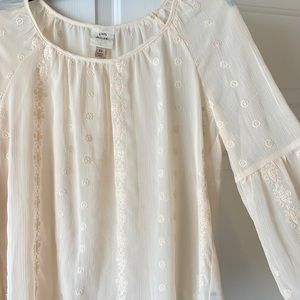 Lace and Cream Sheer Top